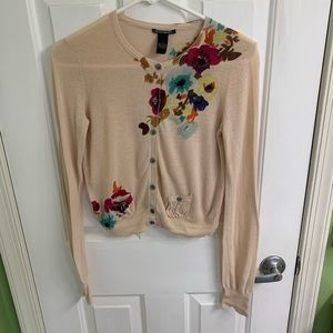 Button up floral cardigan Lucky Brand size small